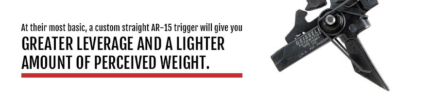 straight AR-15 triggers