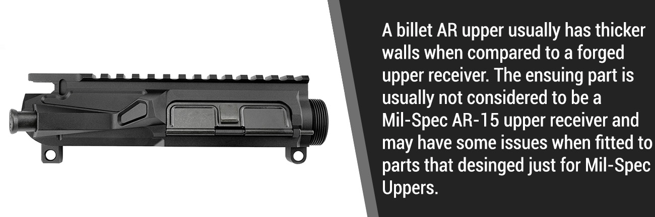 Billet AR-15 Uppers