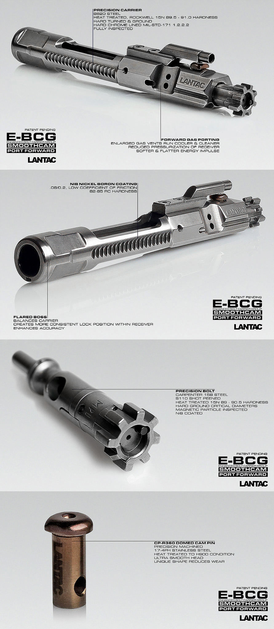 LANTAC Enhanced BCG Full Auto Style (.223/5.56)
